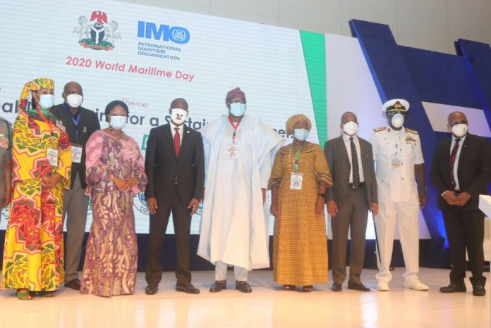 Maritime stakeholders at the 2020 World Maritime Day Celebration which held at Eko Hotel and Suites in Lagos.
