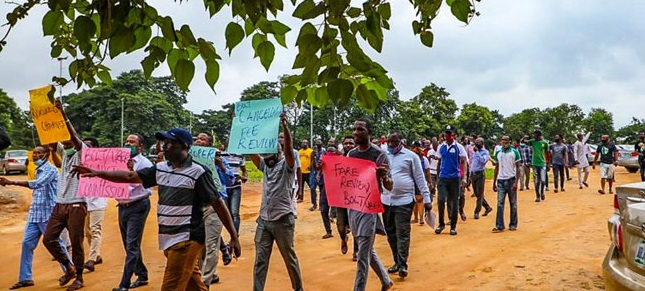 Uber, Bolt drivers protest in Abuja, calls for review