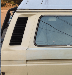 Replacing air duct for intake baffle vanagon