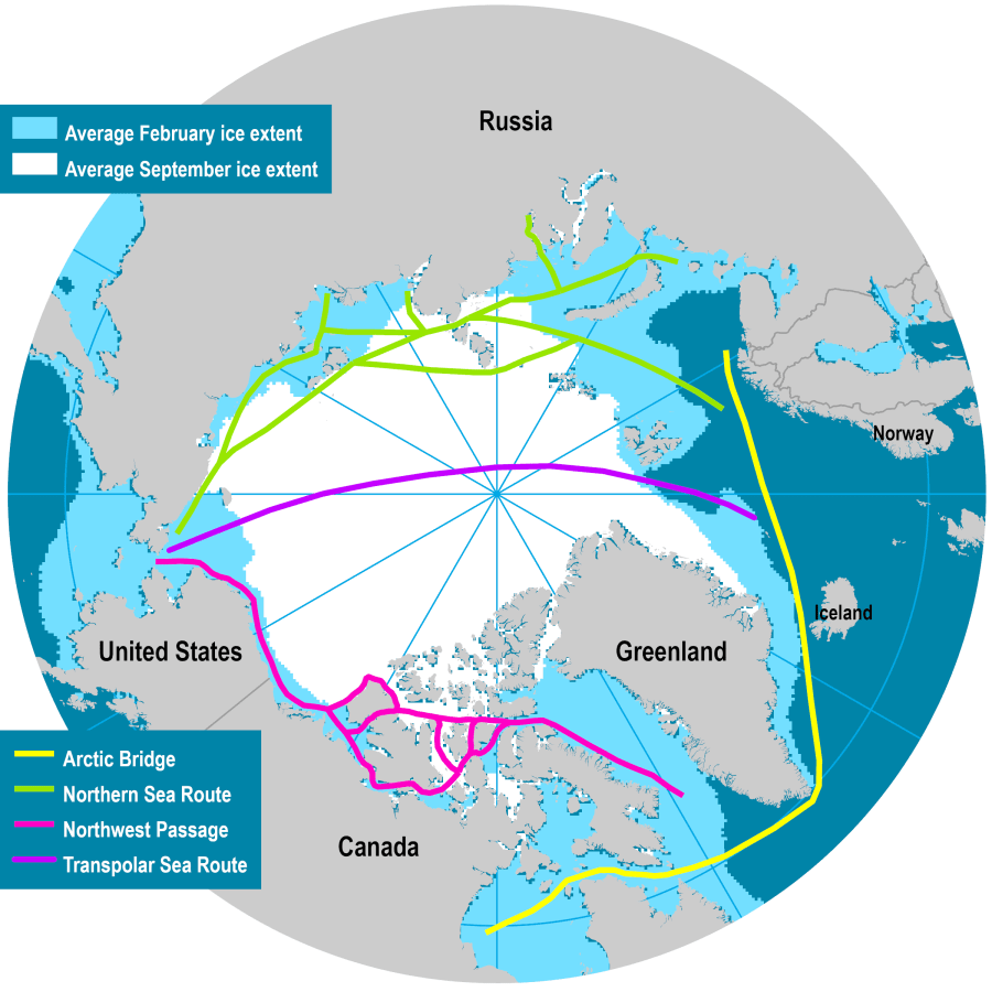 Polar Shipping Routes | The Geography of Transport Systems