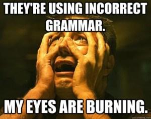 Incorrect Grammar