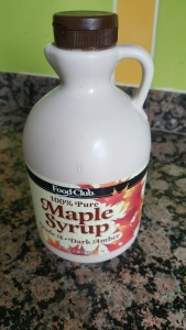 Awesome maple syrup I brought back with me from the States