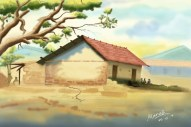 The Abandoned house, Bg painting made in Photoshop.