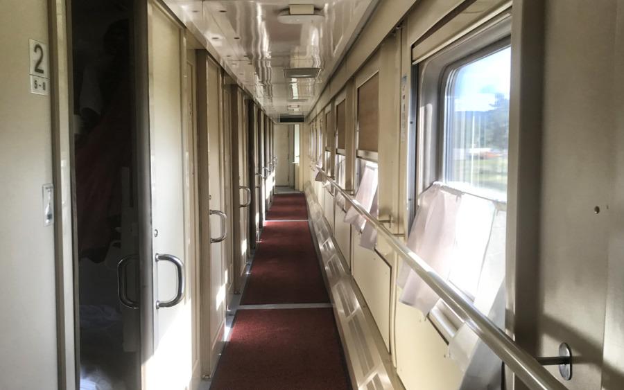 Transsibirische Eisenbahn Wagon der 2. Klasse