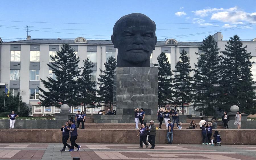 Der berühmte Lenin-Kopf in Ulan Ude