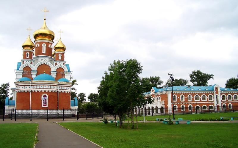Orthodoxe Kathedrale in Komsomolsk an der Amur