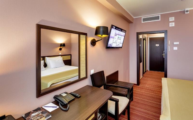 Moskau, Hotel Izmailovo, Zimmereingang