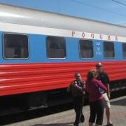 Firmenzug Rossija von Moskau nach Wladiwostok