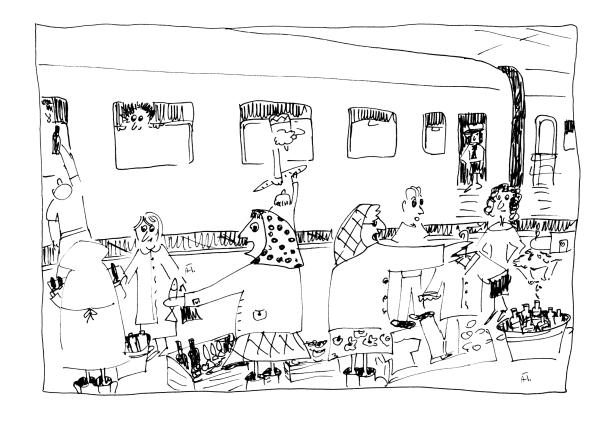 Transsib Postkarte Nr. 5 - Illustration von Aleksandra Twardowska