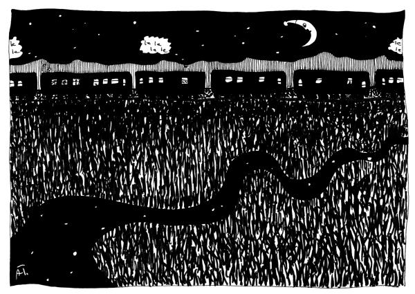 Transsib Postkarte Nr. 8 - Illustration von Aleksandra Twardowska