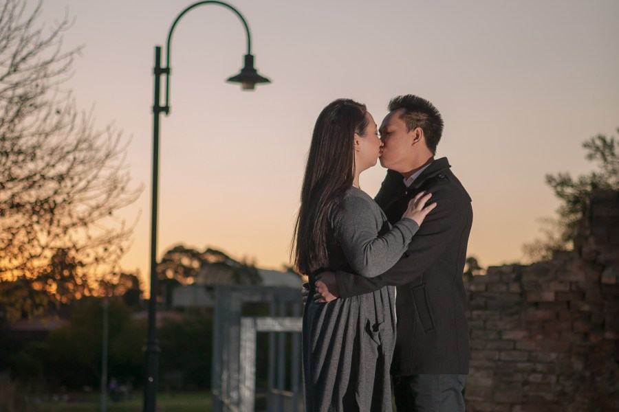 Sydney couple engagement session sunset