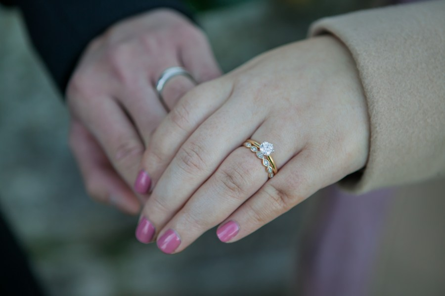 Sydney wedding couples bride and groom rings