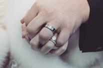 Sydney wedding couple wedding rings holding hands