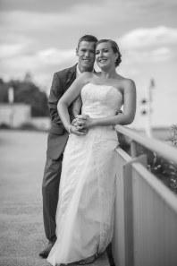 Black and white photo of australian sydney wedding couple