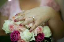 Sydney wedding photographer capturing bouquet of bridal party