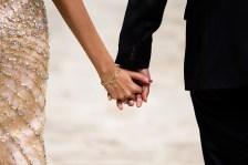 Sydney indian wedding couple holding hands