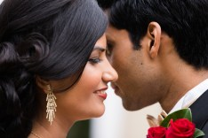 Indian Sydney wedding couple looking at each other
