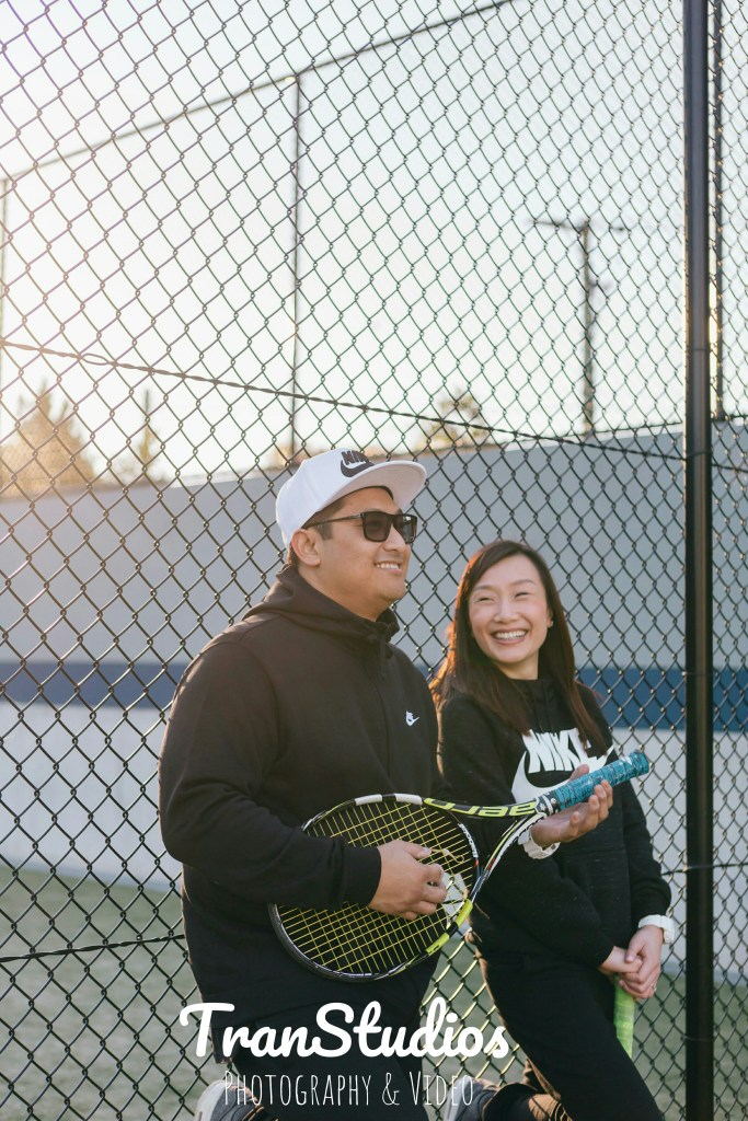 merven and becky at waitara tennis courts