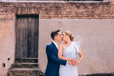 beautiful bride and groom at the rocks sydney argyle street