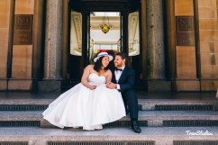 Bride & Groom at GPO post office building Martin Place Sydney