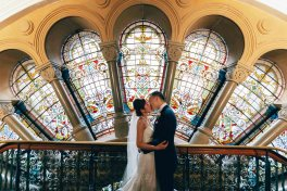 queen victoria building sydney wedding bride and groom photoshoot