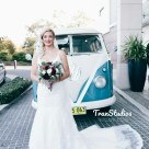 Australian hipster bride vintage wedding dress