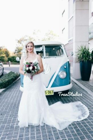 Australian hipster bride vintage wedding dress