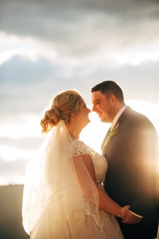 bride-and-groom-touching-noses