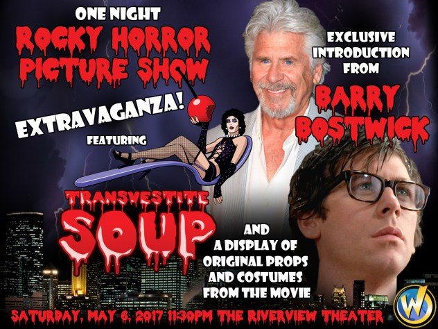 One Night Rocky Horror Picture Show Extravaganza Featuring Transvestite Soup and Exclusive Introduction by Barry Bostwick