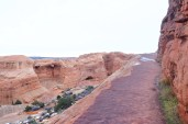 A little bit icy on the trail to Delicate Arch