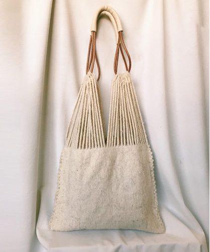 Bolso lana hecho a mano