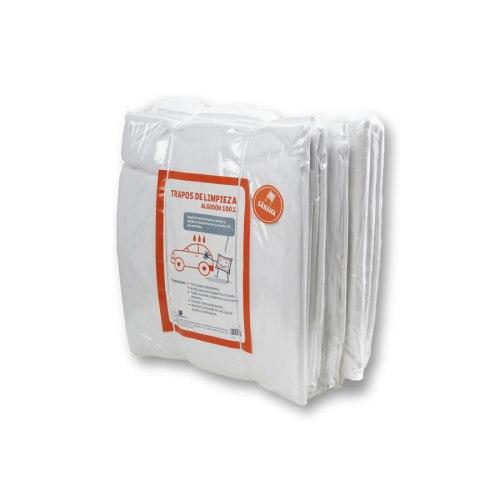 Pack de bolsas de trapos de limpieza en sábana blanca algodón 100%