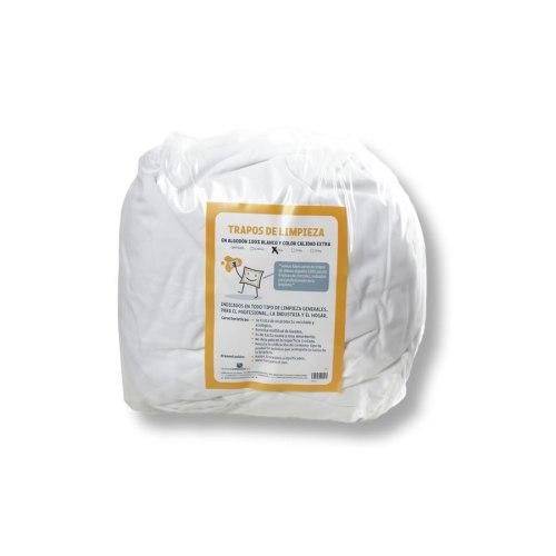 Trapos de limpieza de algodón en paquete de 5 kilos.