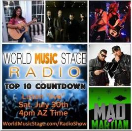 Again at the weekly Top 10 on World Music Stage Radio!