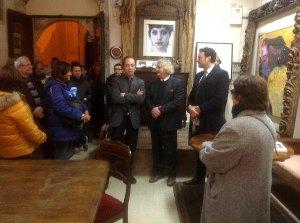 1b inaugurazione con il vicesindaco Francesco Italia e il gallerista Claudio Fayer