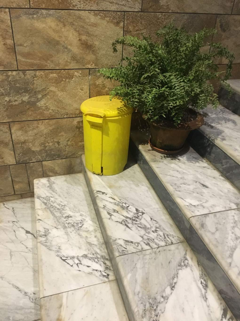 Outdoor Trash Can Yellow