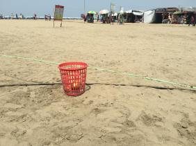 Beach Trash Cans (2)