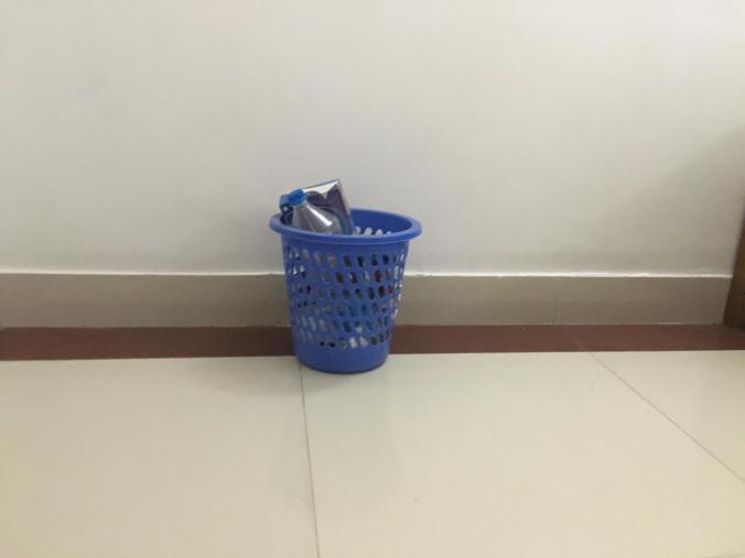 Blue Trash Cans