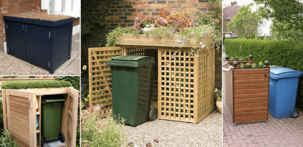 Perfect Outdoor Garbage Can Storage Solution