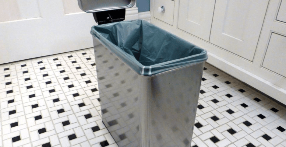 kitchen metal trash can