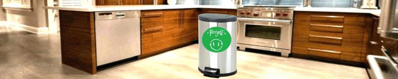 kitchen trash bins