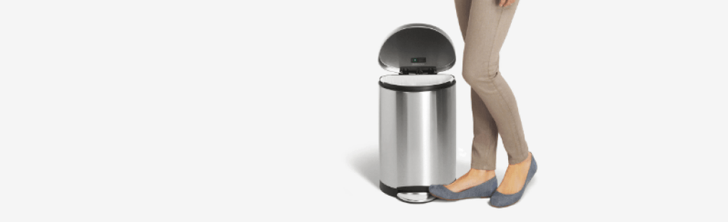 pedal kitchen trash cans