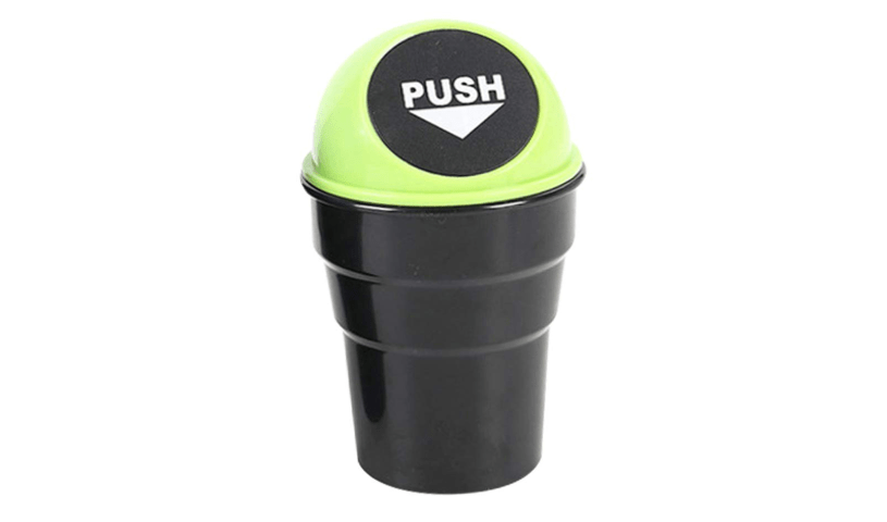 push trash can