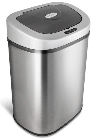 nine stars stainless steel trash can