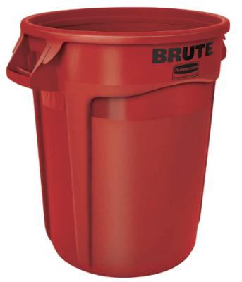 red waste bin