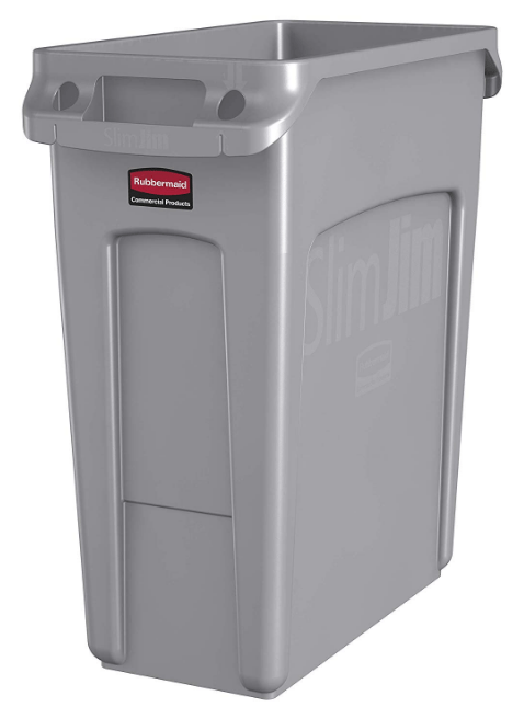 rubbermaid commercial trash can with wheels
