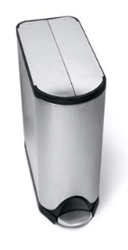 simplehuman stainless steel garbage can