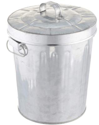 metal trash can indoor