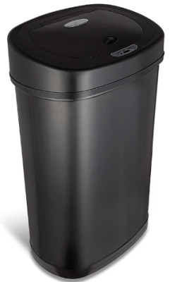 black stainless steel trash can 13 gallon