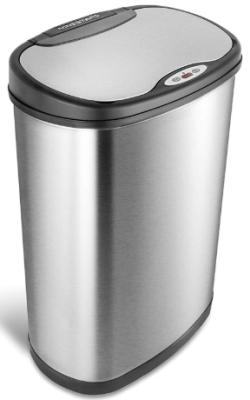 nine stars motion sensor slim touchless 13-gallon trash can